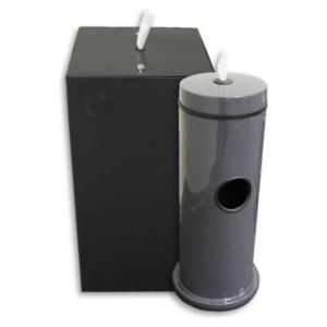 Witt Fiberglass Square and Round Indoor Wipe Dispenser