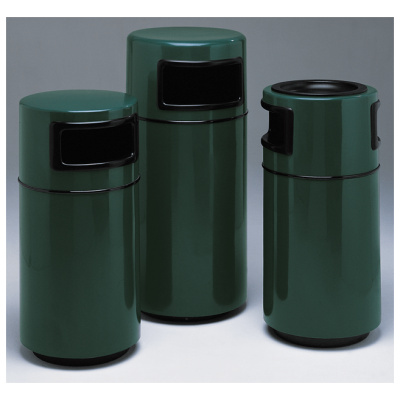 Witt Commercial Garbage Can Green Round Side Fiberglass