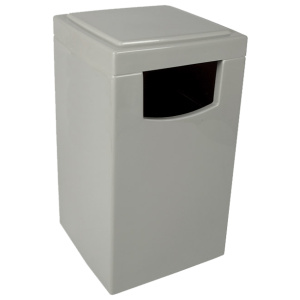 Fiberglass Square Food Court Receptacle with Liner