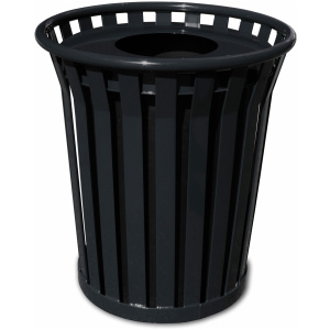 Witt Wydman Collection 24 Gallon Receptacle in Black with Flat Top