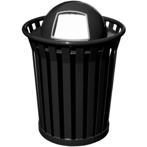Witt Wydman Collection 36 Gallon Receptacle in Black with Dome Top