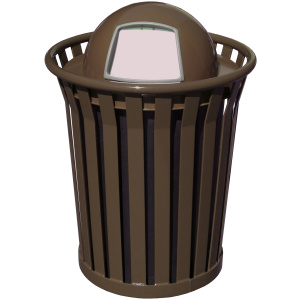 Witt Wydman Collection 36 Gallon Receptacle in Brown with Dome Top