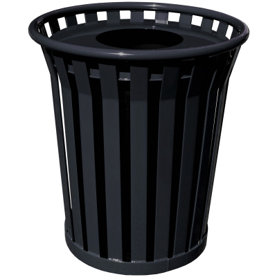 Witt Wydman Collection 36 Gallon Receptacle in Black with Flat Top