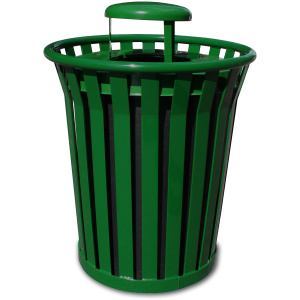 Witt Wydman Collection 36 Gallon Receptacle in Green with Rain Top