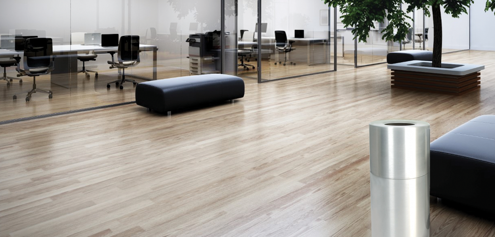 Witt Aluminum Standard Receptacle in Indoor Environment
