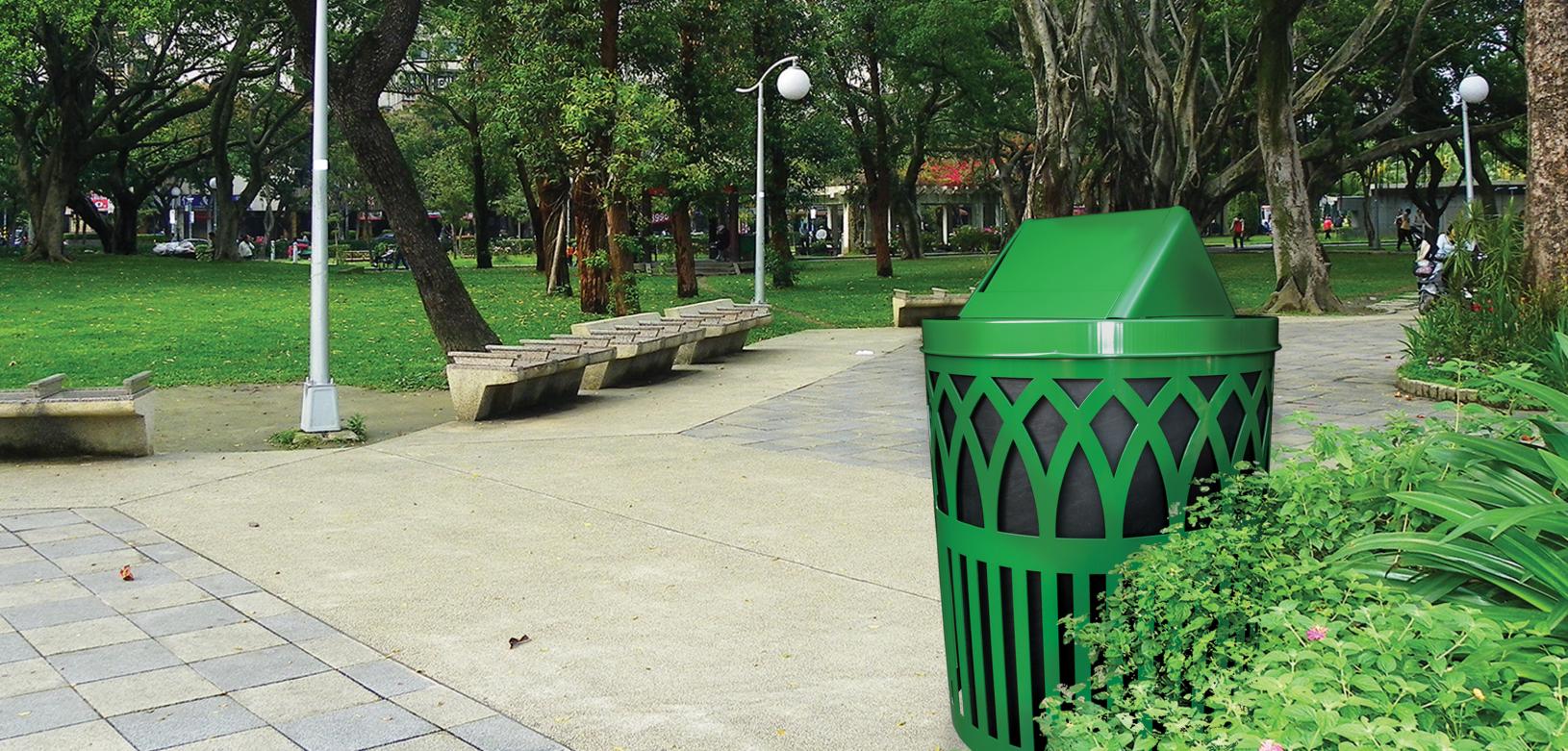 Green Covington Receptacle Outdoor Environmental