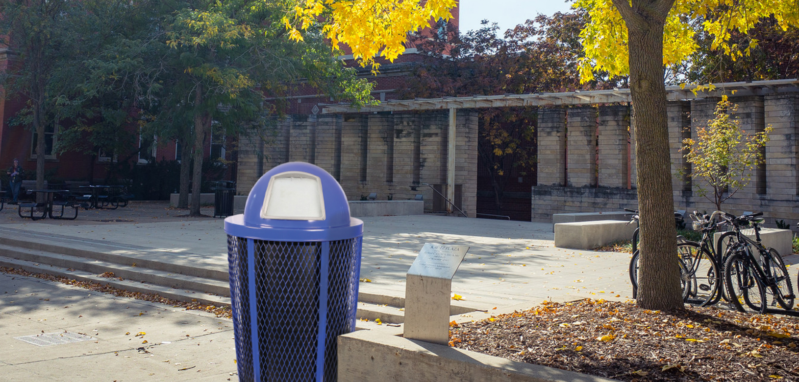 Witt Blue EXP 2020 Base Commercial Waste Receptacle Outdoor Environmental