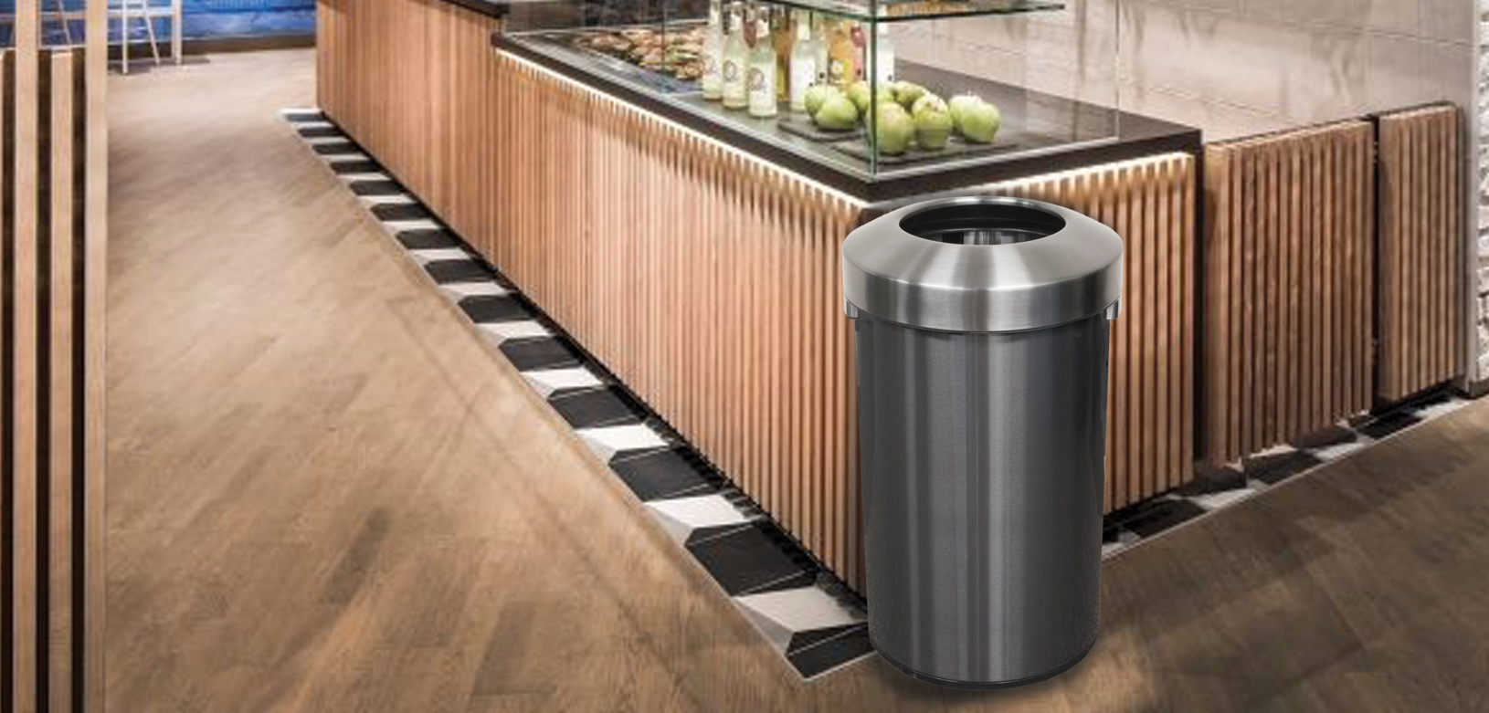 Witt Aluminum Monarch Series Galvanize Trash Can Indoor Environmental