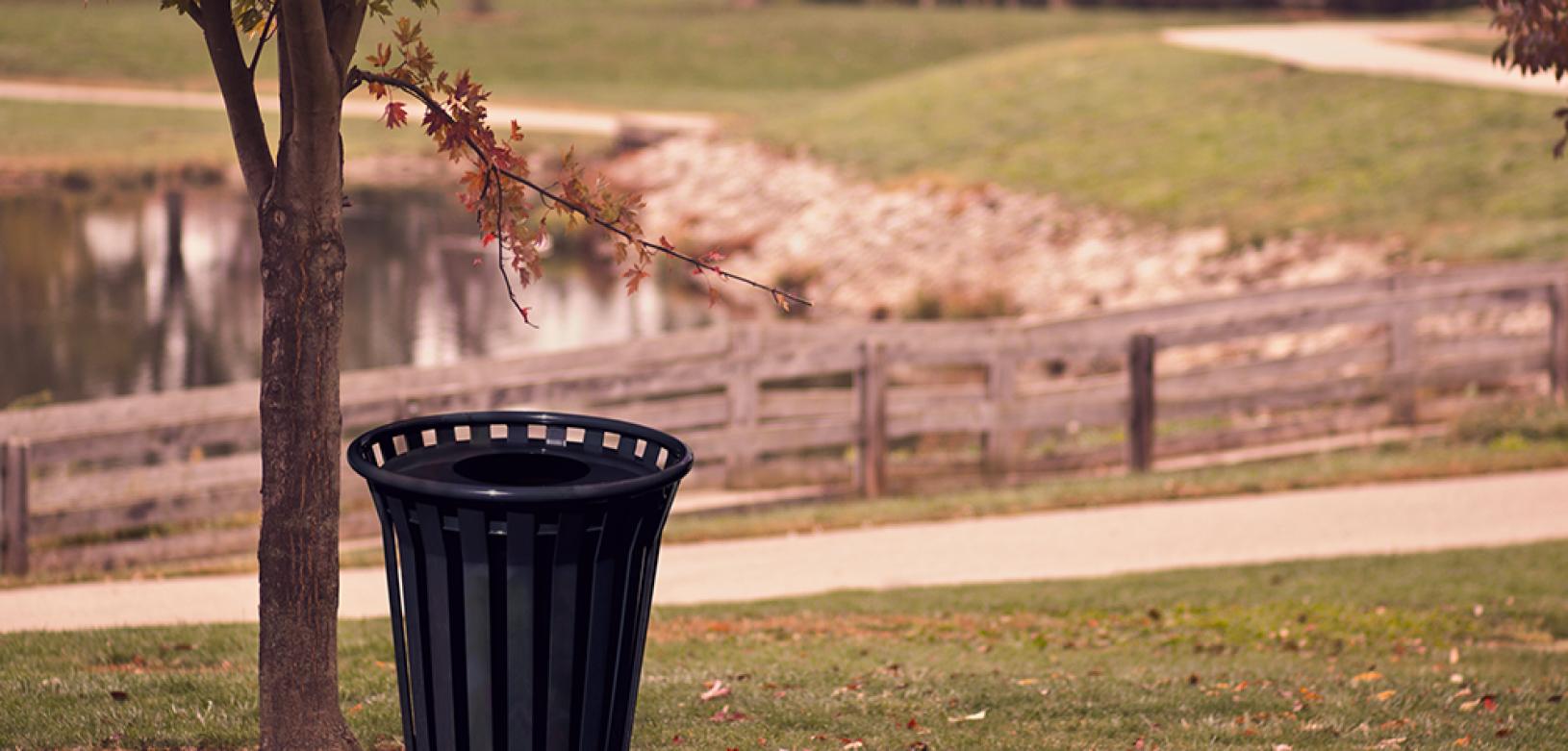 Witt Black Oakley Standard Outdoor Receptacle Environmental